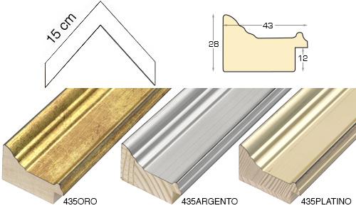 Complete set of corner samples of moulding 435 (3 pieces)