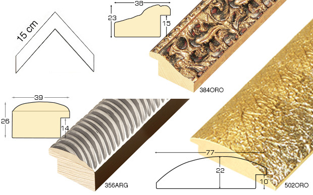 Complete set of corner samples of moulding 384 (1 pieces)