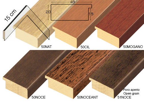 Complete set of corner samples of moulding 51