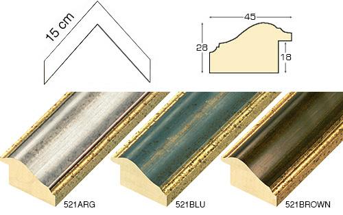 Complete set of corner samples of moulding 531 (5 pieces)