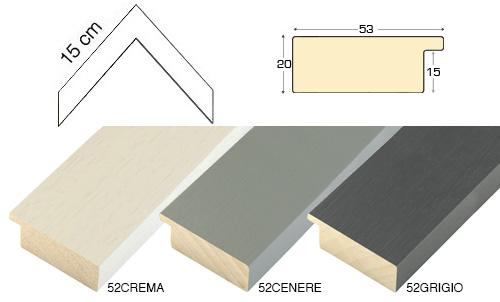 Complete set of corner samples of moulding 52 (3 pieces)