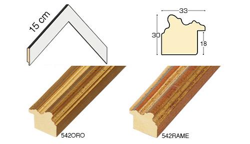Complete set of corner samples of moulding 542 (2 pieces)
