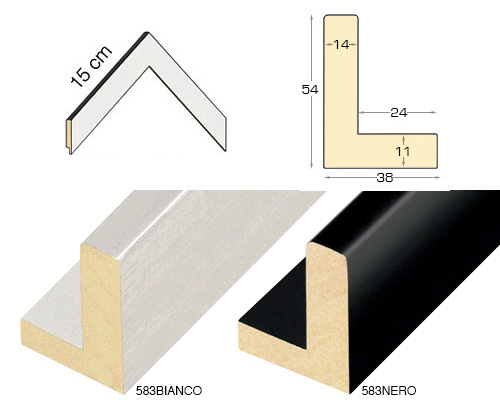 Complete set of corner samples of moulding 583 (2 pieces)