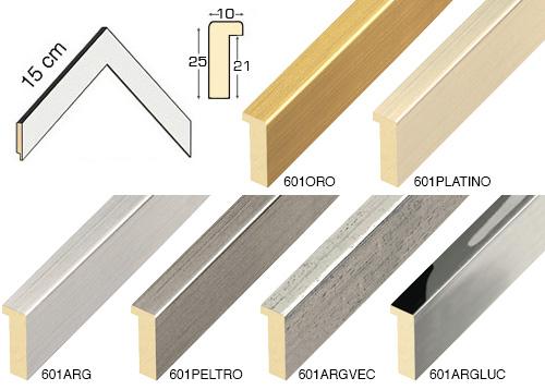 Complete set of corner samples of moulding 601 (6 pieces)