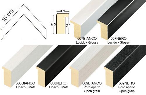 Complete set of corner samples of moulding 608 (6 pieces)