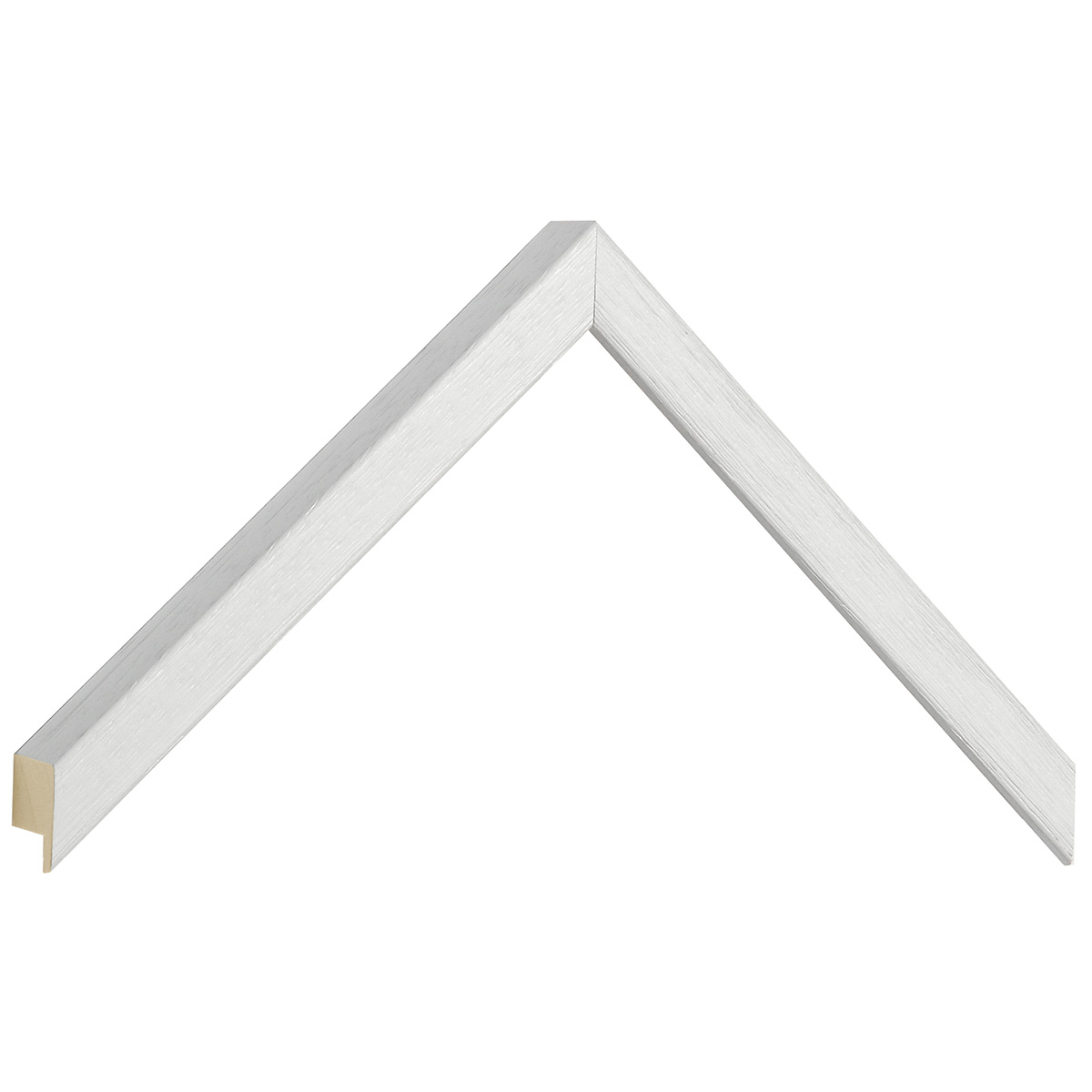 Corner sample of moulding 609BIANCO