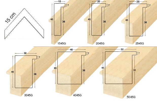 Complete set of corner samples of moulding 617 (7 pieces)