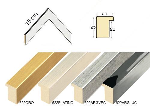 Complete set of corner samples of moulding 622 (6 pieces)