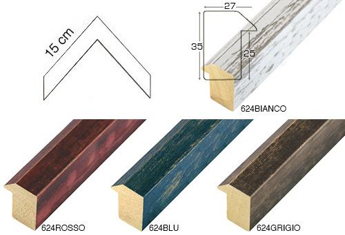 Complete set of corner samples of moulding 624 (5 pieces)