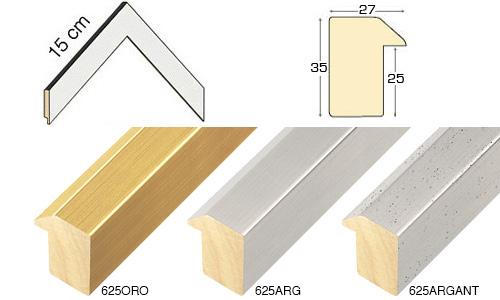 Complete set of corner samples of moulding 625 (3 pieces)