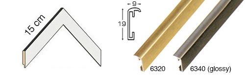 Complete set of corner samples of moulding 6300 (4 pieces)