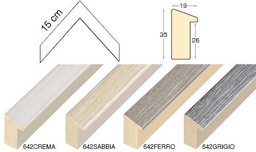 Complete set of corner samples of moulding 642 (4 pieces)
