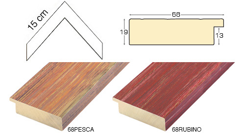 Complete set of corner samples of moulding 68 (2 pieces)