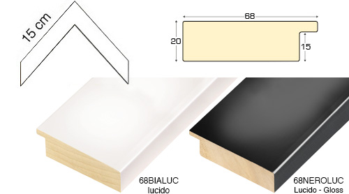 Complete set of corner samples of moulding 68 (2 pieces)