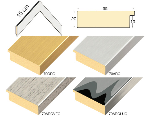 Complete set of corner samples of moulding 70