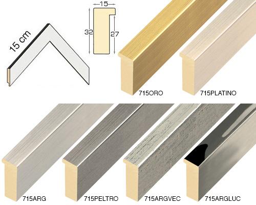 Complete set of corner samples of moulding 715 (6 pieces)