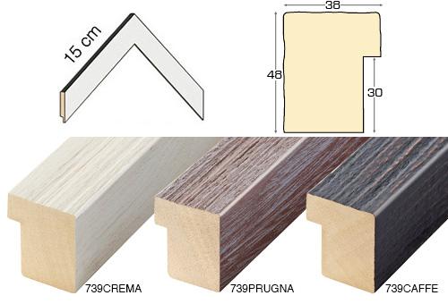 Complete set of corner samples of moulding 739 (3 pieces)