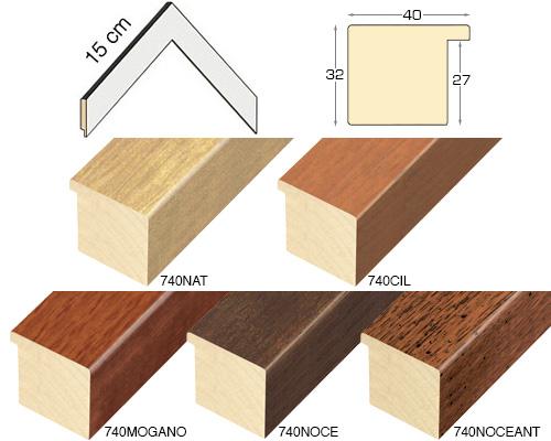 Complete set of corner samples of moulding 740 (5 pieces)