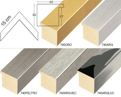 Complete set of corner samples of moulding 740 (6 pieces)