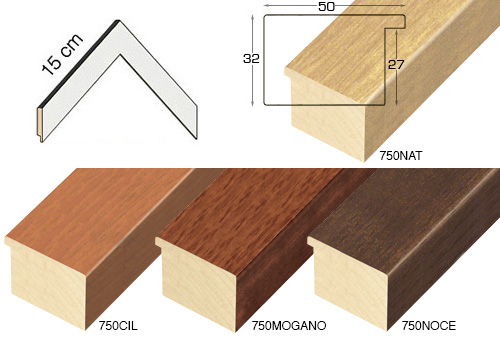 Complete set of corner sample of moulding 750 (4 pieces)