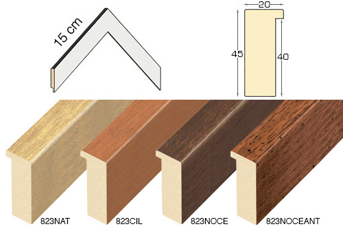 Complete set of corner samples of moulding 823 (4 pieces)