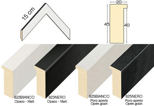 Complete set of corner samples of moulding 825 (4 pieces)