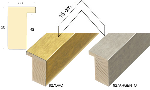 Complete set of corner samples of moulding 827 (2 pieces)