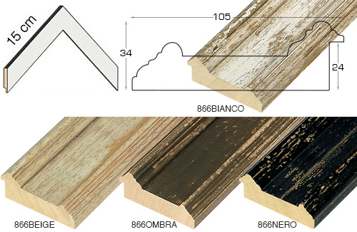 Complete set of corner samples of moulding 866 (4 pieces)
