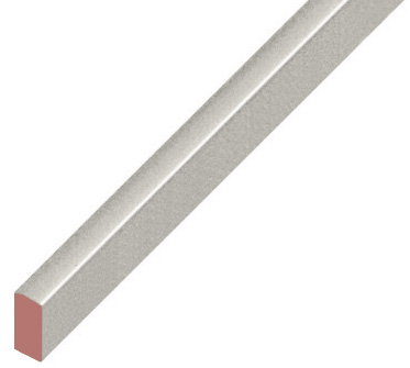 Spacer plastic, flat 5x10mm - silver