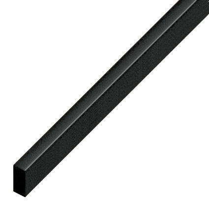 Spacer plastic, flat 5x10mm - black