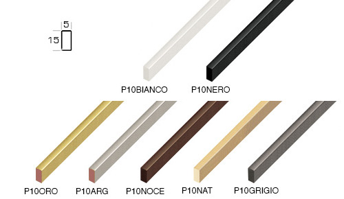Complete set of straight samples of moulding 101 (7 pieces)