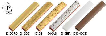 Complete set of straight samples of moulding 10 (5 pieces)