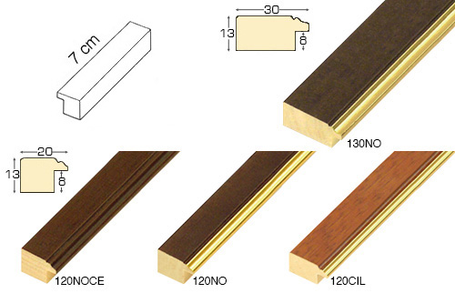 Complete set of straight samples of moulding 120 (4 pieces)