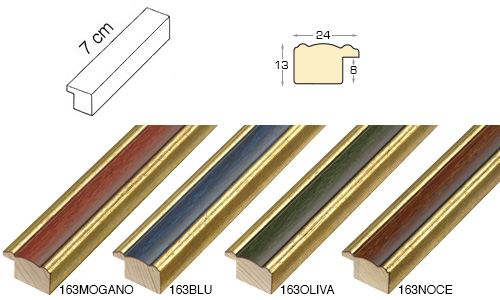 Complete set of straight samples of moulding 163 (4 pieces)