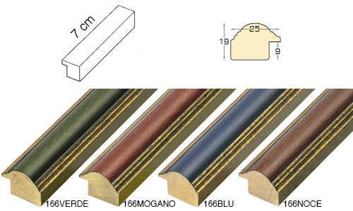 Complete set of straight samples of moulding 166 (4 pieces)