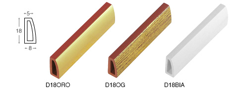 Complete set of straight samples of moulding 18