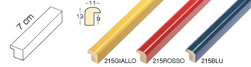 Complete set of straight samples of moulding 215 (3 pieces)