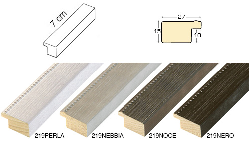Complete set of straight samples of moulding 219 (4 pieces)
