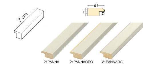 Complete set of straight samples of moulding 21 (3 pieces)
