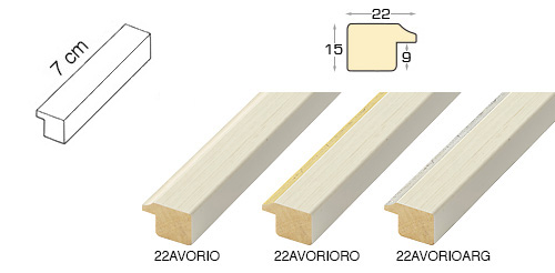 Complete set of straight samples of moulding 22
