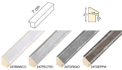Complete set of straight samples of moulding 247 (4 pieces)