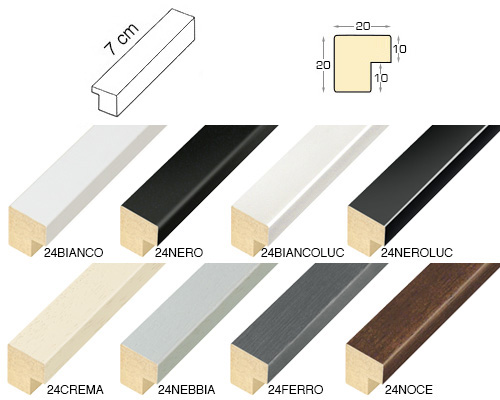 Complete set of straight samples of moulding 24 (8 pieces)