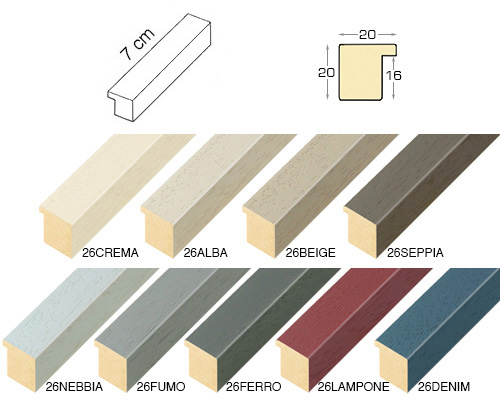 Complete set of straight samples of moulding 26