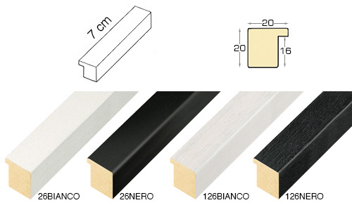 Complete set of straight samples of moulding 26 (4 pieces)
