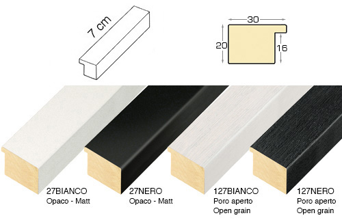 Complete set of straight samples of moulding 27 (4 pieces)