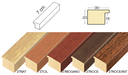 Complete set of straight samples of moulding 27 (5 pieces)