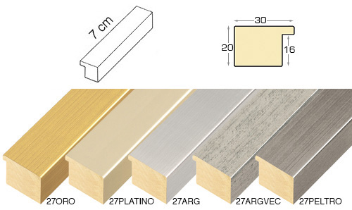 Complete set of straight sample of moulding 27 (5 pieces)