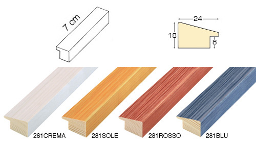Complete set of straight samples of moulding 281 (4 pieces)