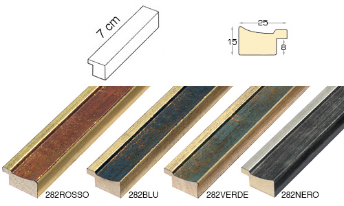 Complete set of straight samples of moulding 282 (4 pieces)