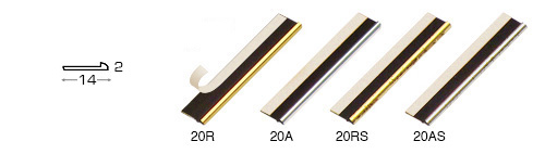 Complete set of straight samples of moulding 2 (4 pieces)